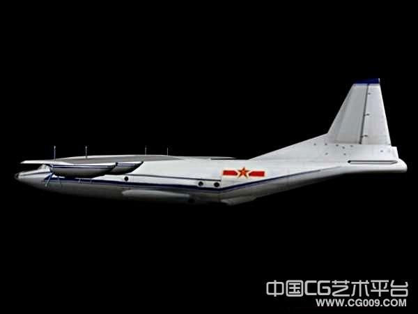 解放军Y-8运输机3d模型下载 带贴图