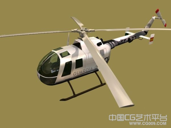 美国小型武装直升机模型下载 带贴图