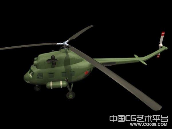 一个非常好的武装直升机3D模型  带贴图