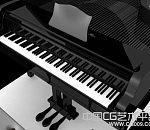 非常高清的钢琴MAYA模型下载   黑色钢琴模型下载