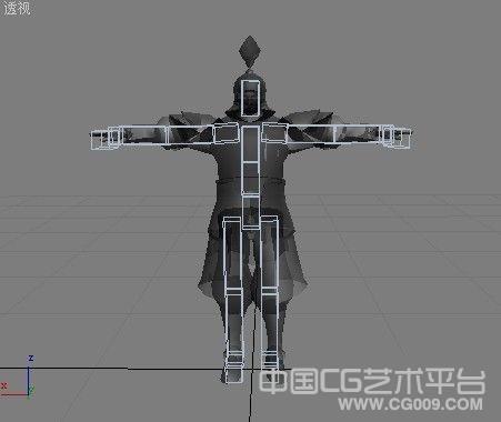 中国古代武将动作模型下载 带完整贴图 有绑定