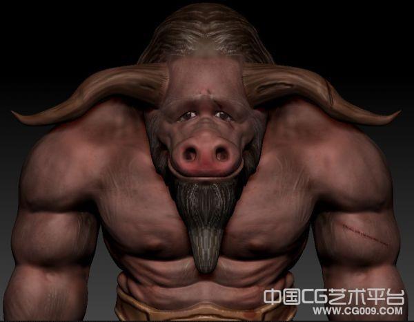 牛头怪物牛头人牛魔王maya模型下载