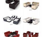 16中各式各样的客厅组合沙发模型下载