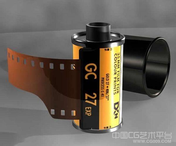 相机胶卷maya写实模型 老师相机胶卷模型
