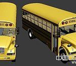 美国霸气校车maya模型有OBJ格式文件带完整贴图