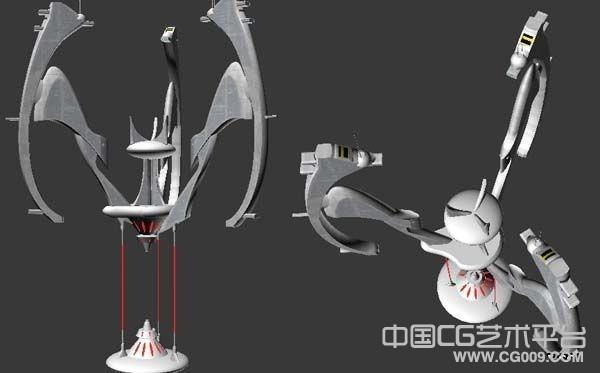 太空飞船基地卫星发射器战机宇宙飞碟3d模型下