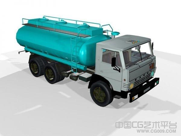 运输车卡车城市洒水车油罐车货车3d模型下载