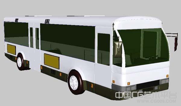 bus公交车模型公共汽车大巴车汽车交通工具maya模