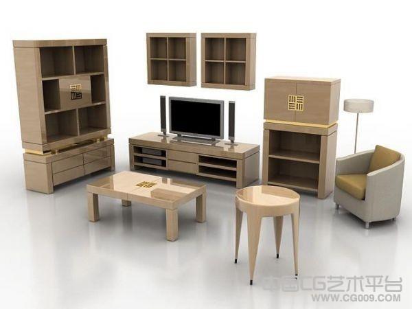 木质家具一套模型下载