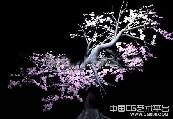 漂亮的桃树古树桃花3d模型下载