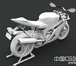 精品C4D摩托车模型下载