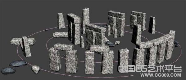 会移动的石头场景怪事全遗址写实3d场景模型下