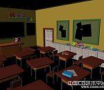maya写实幼儿园教室室内场景模型下载