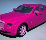 粉红色的劳斯莱斯古思特-Rolls-Royce Ghost 汽车,枚