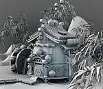 maya熊猫人翡翠林写实场景模型下载  带完整贴图