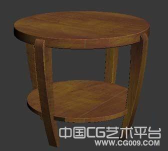 木质小凳子小马凳圆形木凳3d模型下载