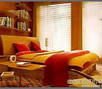 一套漂亮的木制家具暖色调卧室3d效果模型下载