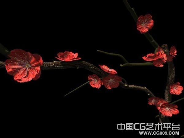 写实梅花树木3d模型下载  带高清贴图哦