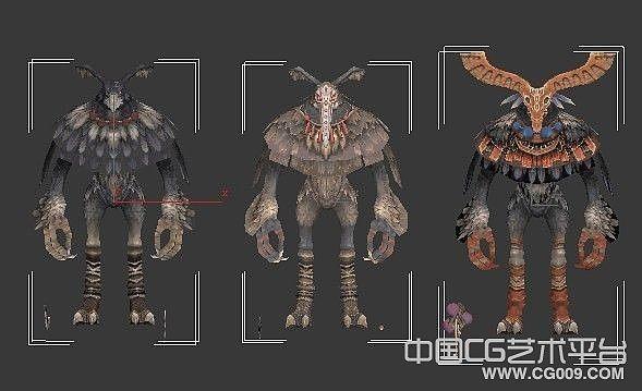 各种鸟人怪物模型合集下载