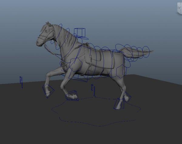 马模型,有绑定有动画无材质