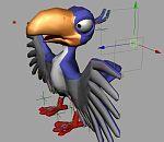 maya绑定卡通乌鸦模型下载