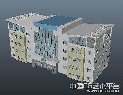 政府综合办事大楼现代建筑模型下载