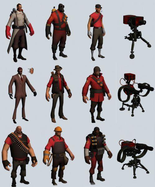 《军团要塞》男性角色模型集合下载 带武器装备
