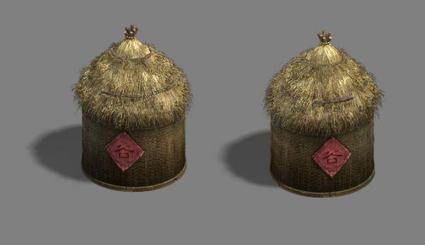 古代粮仓、谷仓、粮草3d模型下载