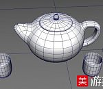 一套很精细的茶具3D模型下载