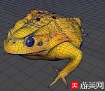 金蟾 三腿金蚕 乃蛤蟆 maya模型