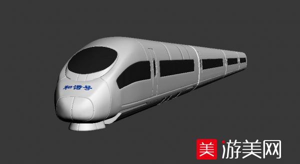 和谐号动车3d模型下载