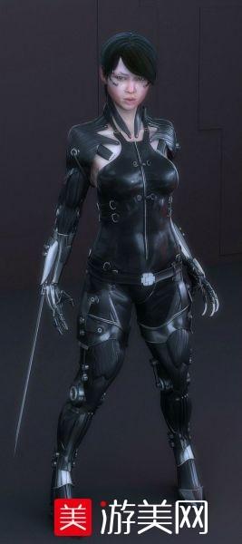 精品角色带骨骼、绑定、动画、材质