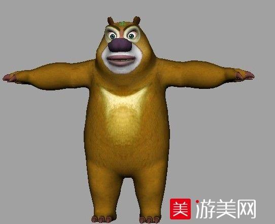 熊出没 熊大熊二绑定3D模型  棕熊3D模型   大熊3D