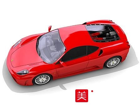红色法拉利跑车模型下载