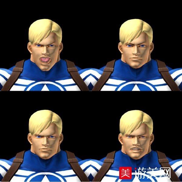 漫画英雄VS Capcom 3@美国队长模型下载