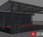 大棚露天舞台3dmax场景模型下载