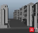 maya街道房子大场景3d模型下载