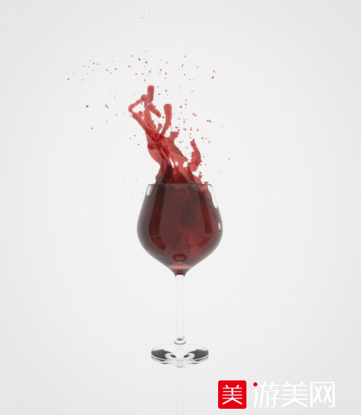 红酒杯 红酒飞溅特效 3d模型下载