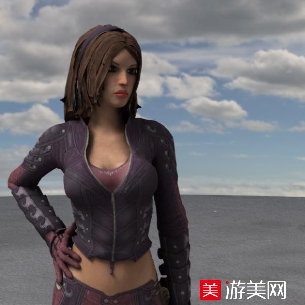 欧美大胸女人模型性感美女C4D写实cg模型下载有