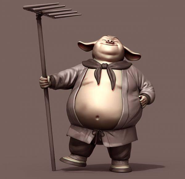 猪八戒卡通3d模型下载