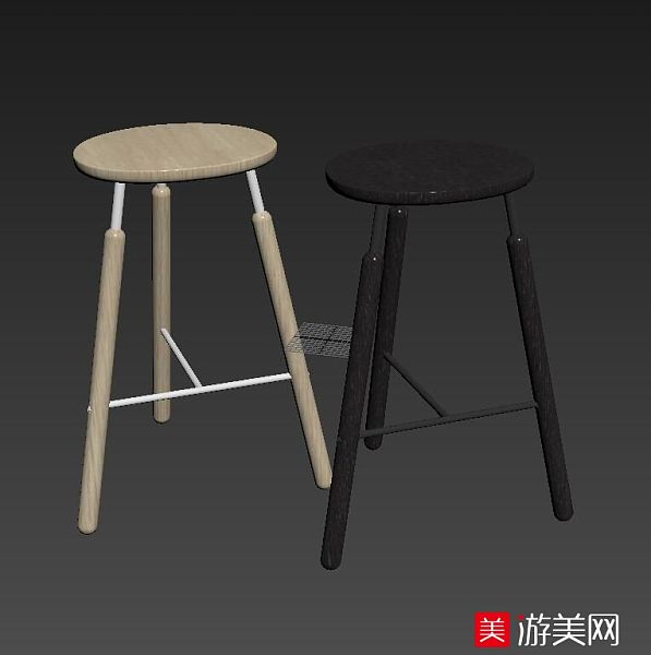 黑色白色椅子吧椅吧凳家具