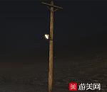 老式木头电线杆max模型下载