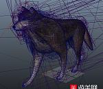 【老外精品】非常好的狼走路maya动作模型 有多