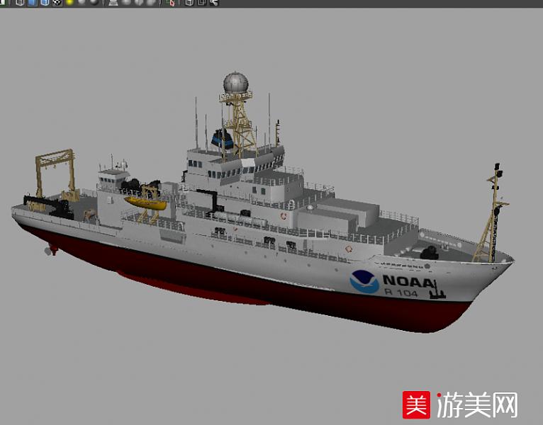 海上科考船 研究船OBJ模型