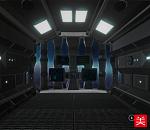 科幻隧道战舰内部场景FBX模型下载