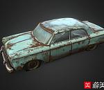 次世代旧汽车 报废车FBX模型下载