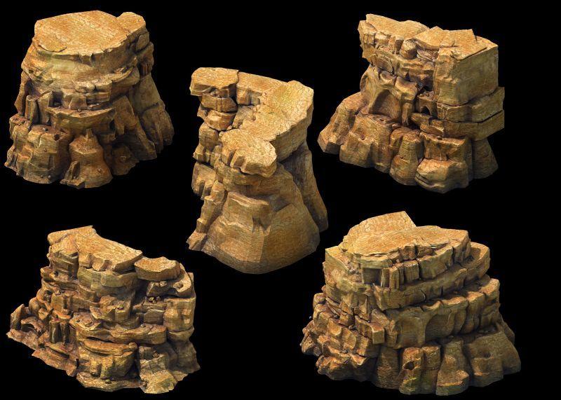 沙壁岩石场景