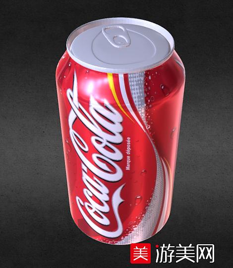 红罐可口可乐饮料瓶 易拉罐铁罐 非常写实精致