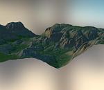 山地3d地形场景模型