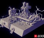 城市战争建筑废墟场景模型